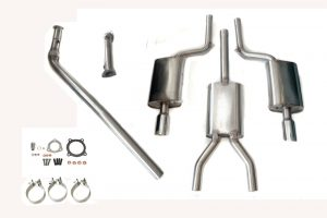 NL Tuning B6 A4 1.8T (Quattro) 5-Speed Turbo-Back Exhaust System (2002-2003)